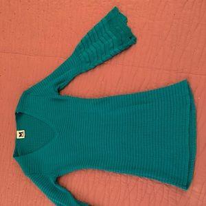 Knit turquoise Missoni blouse